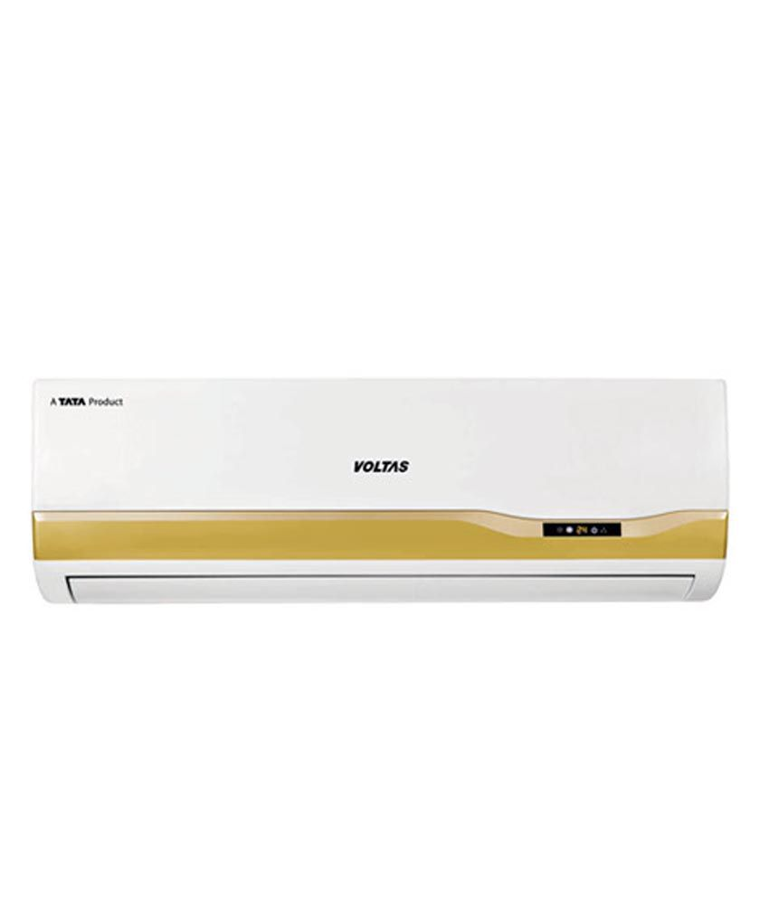 Voltas 1 5 Ton 3 Star 183 Lye Split Air Conditioner White With copper  condenser & 10 feet free copper piping  (2016-17 BEE Rating)