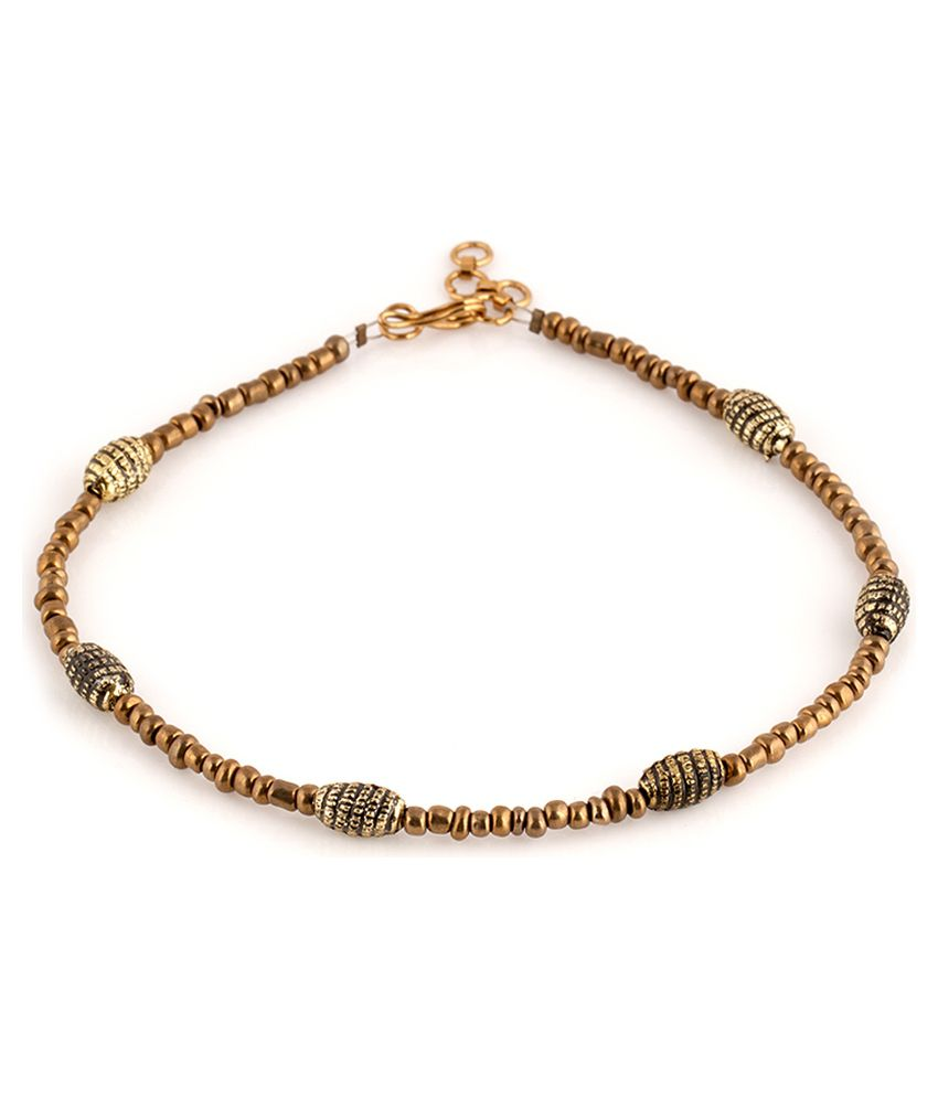 Voylla Attractive Beaded Hook Anklets Pair