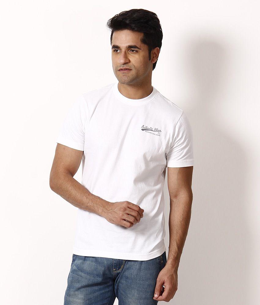 Numero Uno White Round Neck T-Shirt