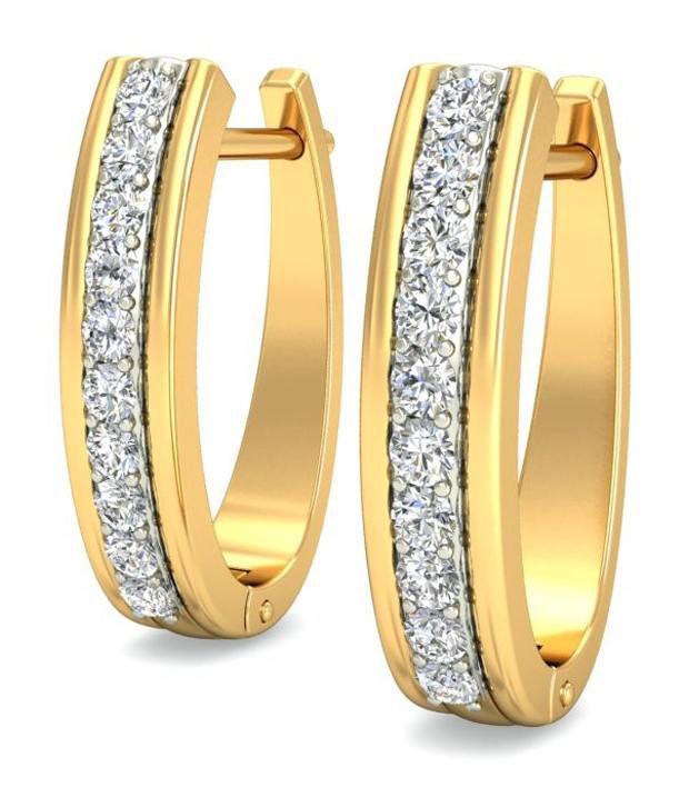 14Kt Hallmark Gold SI/IJ  Certified Diamonds precise  EARRING By BELLE
