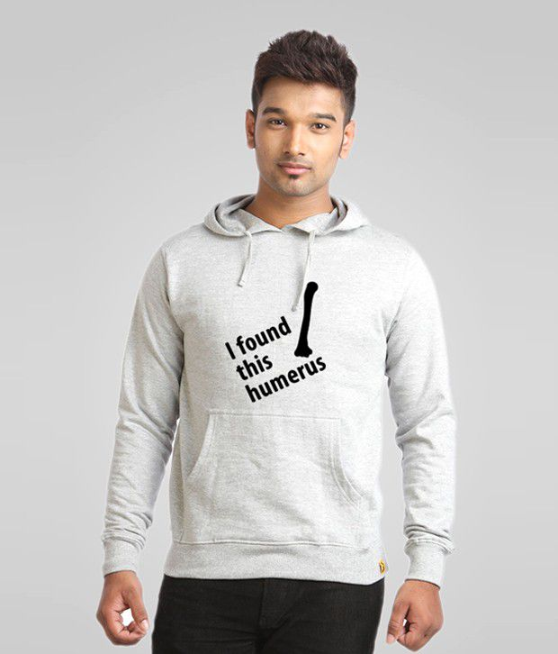 Campus Sutra Gray Humorous Sweatshirt