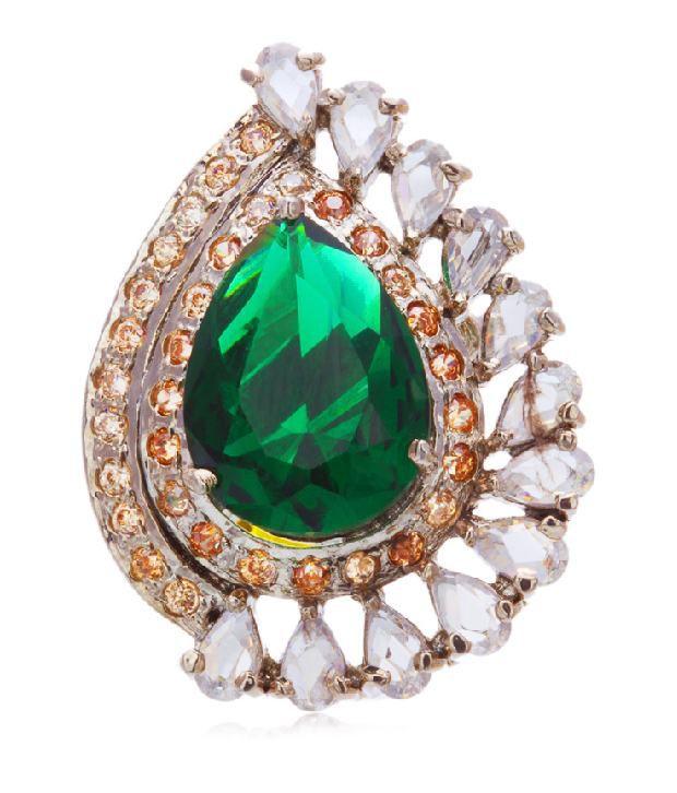 Sparkle Street Fashion Designer Green Bracelet