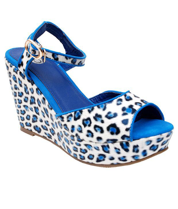 iLO Voguish Blue Heeled Sandals