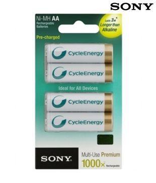 Sony NH-AA-B4KN -SONY RECHARGEABLE HIGH CAPACITY(4PCS) 2100 MAH