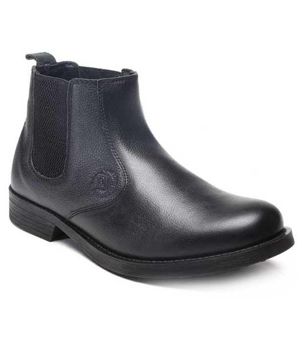 Franco Leone Smart Black Ankle Length Boots