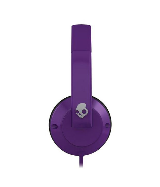 Skullcandy UPROCK S5URDZ-212 Over Ear Headphones (Purple) With Mic