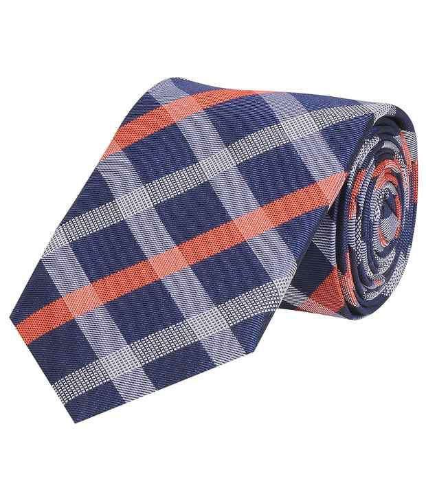 TieKart Smart Multi-coloured Checkered Tie