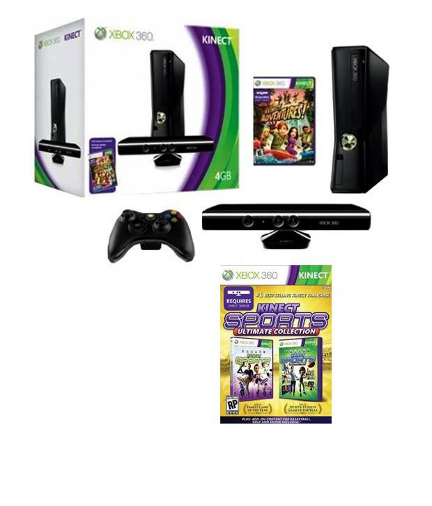 Buy microsoft xbox 360 4gb kinect bundle with kinect sports ultimate collection online at best - Xbox 360 console kinect bundle ...