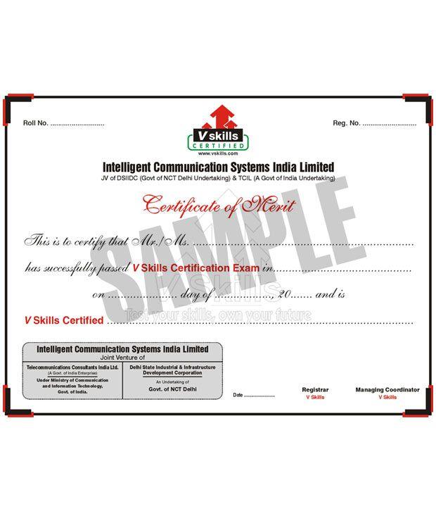 Vskills Certified Data Entry Operator Buy Vskills Certified Data