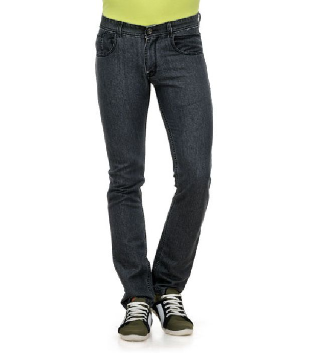 Yepme Gray Slim Fit Cotton Lycra Jeans