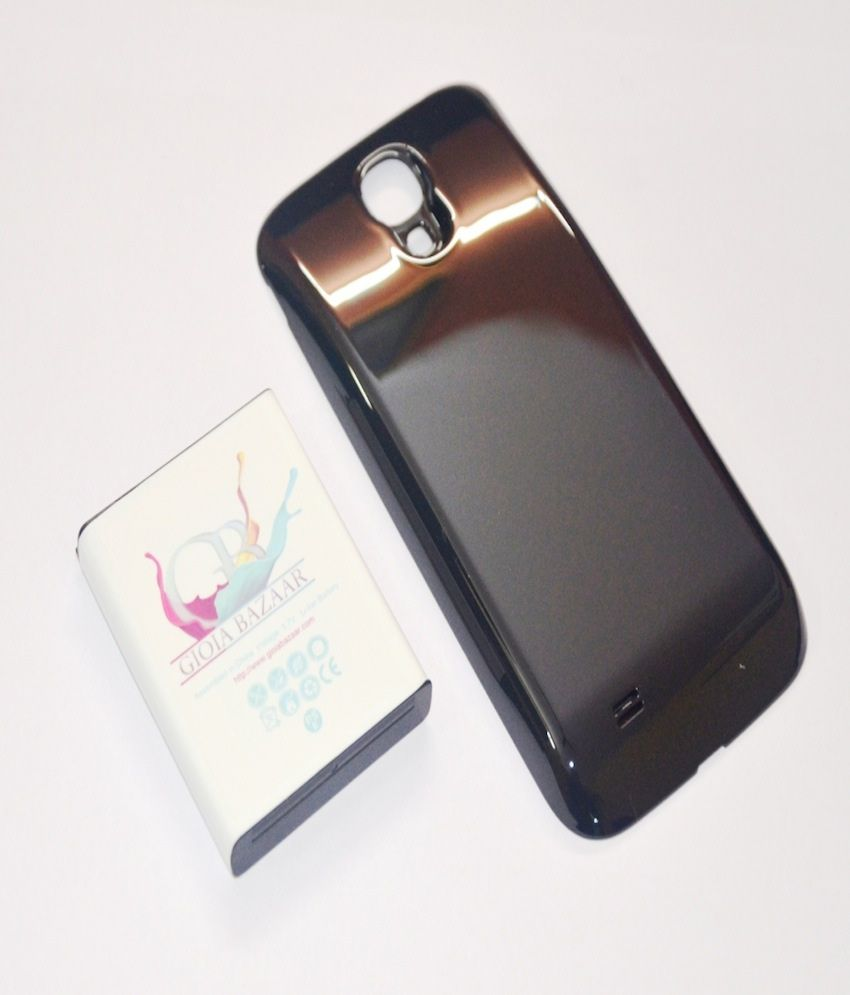 best cheap 6fc25 5ace3 AE 5600mAh Extended Battery Black Cover Case for SamSung Galaxy S4 IV i9500  NFC Enabled
