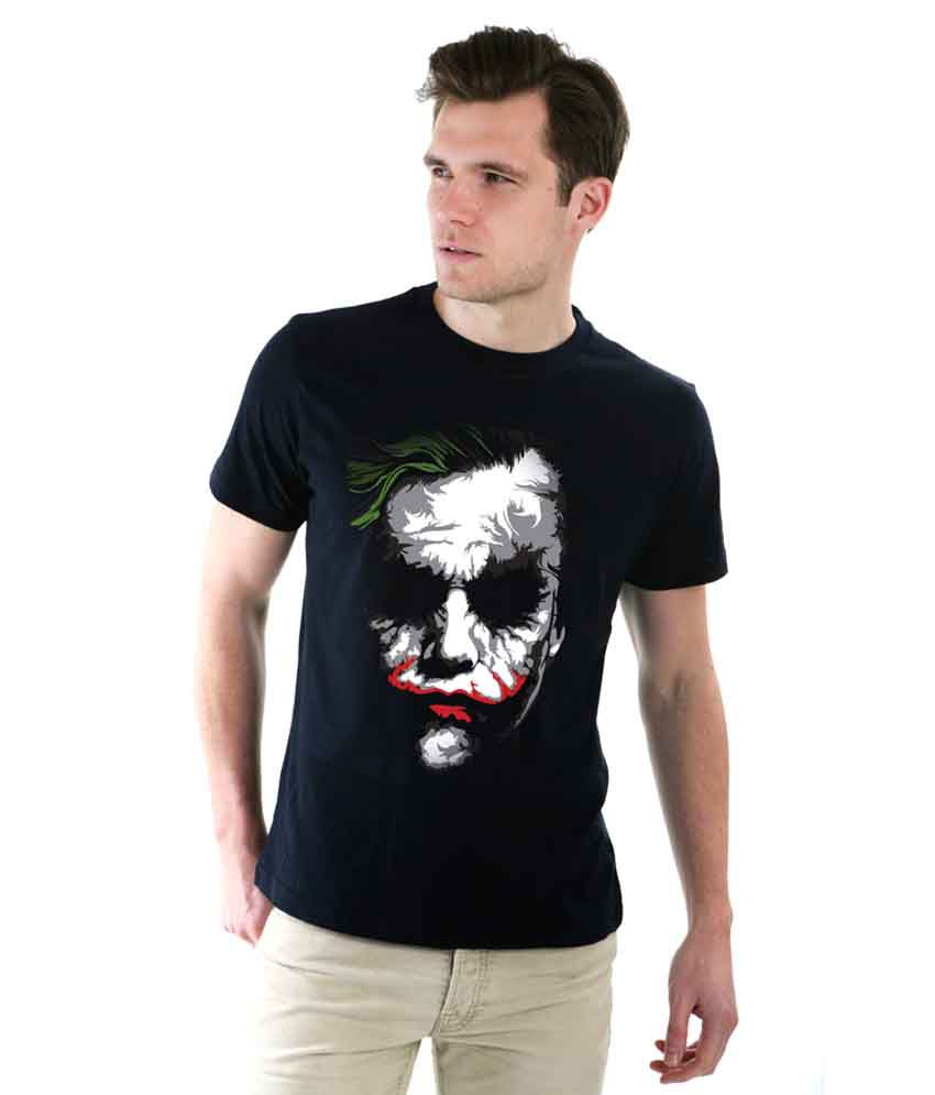 Black t shirt buy online - Flame Attractive Black Joker T Shirt