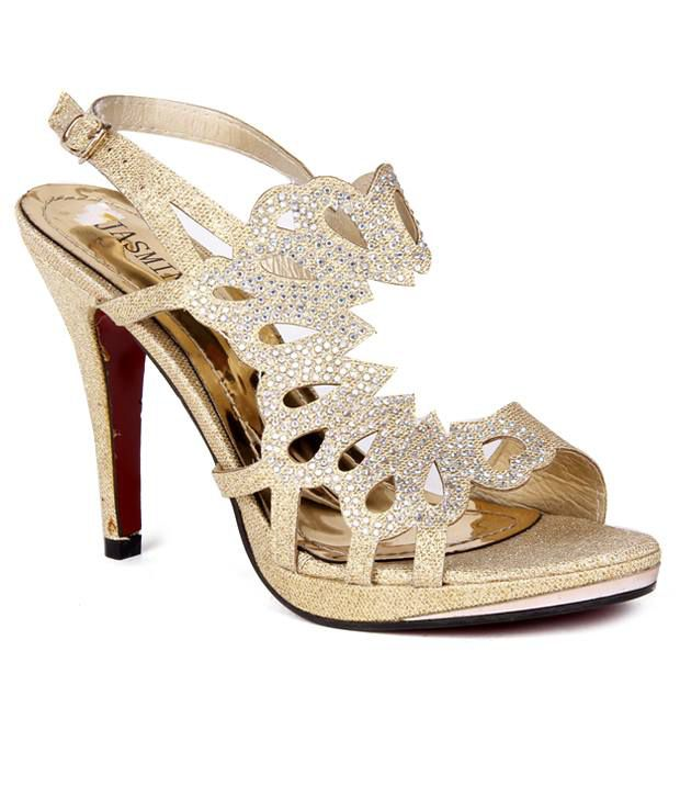 Reyna Glamourous Golden Heeled Sandal