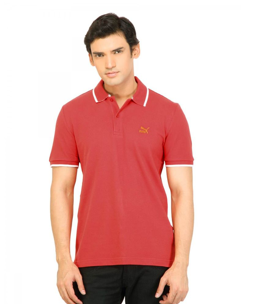 Puma Men Heritage Polo Ribbon Red Tshirt