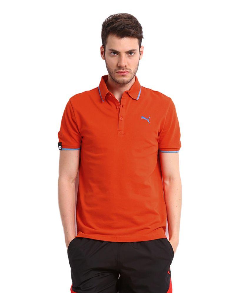 f23473bf Puma Men Orange Polo T Shirt - Buy Puma Men Orange Polo T Shirt Online at  Low Price in India - Snapdeal