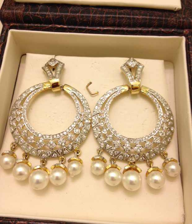 To acquire Buy design latest diamong loop earrings online picture trends