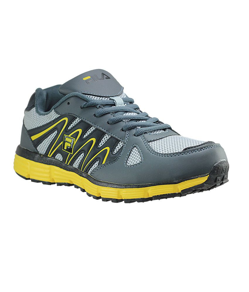 Fila Flbenito Yellow Black Grey Men Sports Shoes