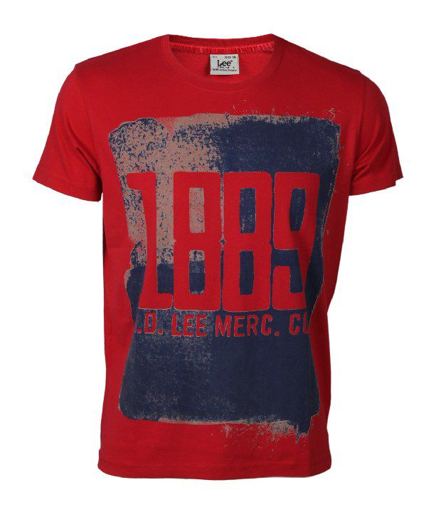 04bb9197734d Lee Cooper Originals Red Printed T Shirt - Buy Lee Cooper Originals Red  Printed T Shirt Online at Low Price - Snapdeal.com