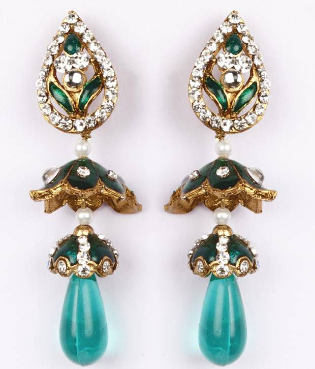 Voylla Exquisite Gold Plated Earring With Beaded Drops