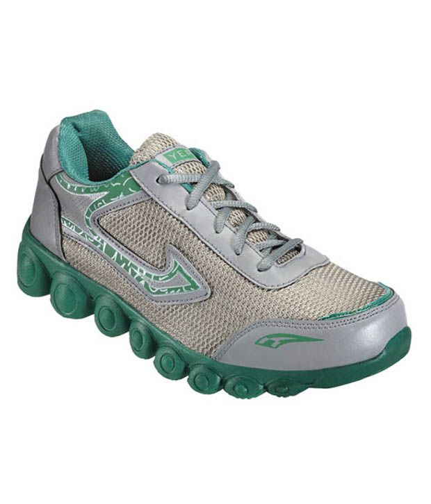 Yepme Dynamic Grey and Green Running Shoes