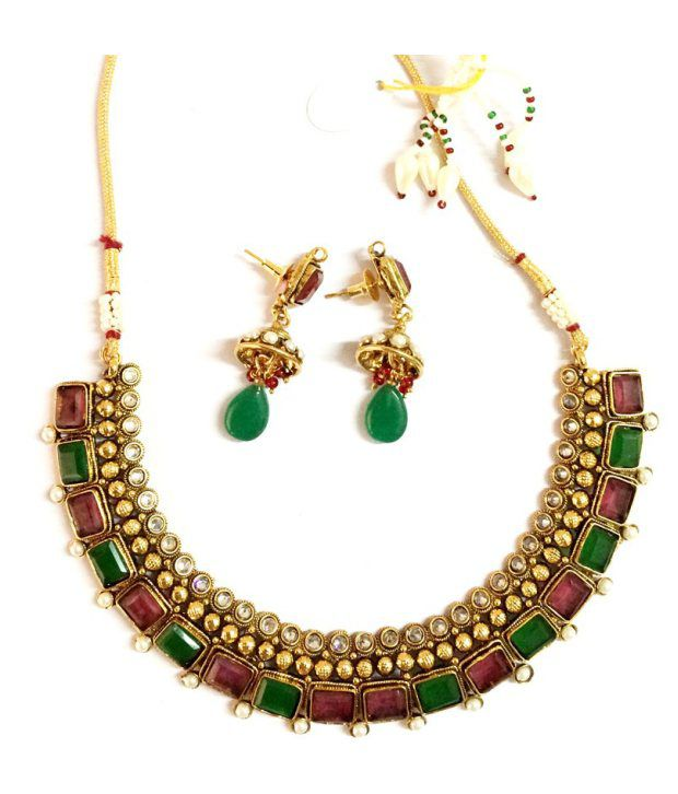 Craftstages Polki work Traditional Necklace