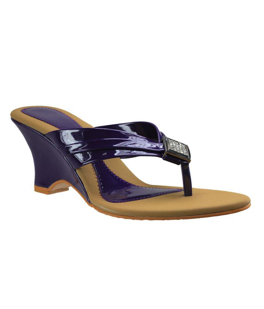 D'Ziner Fantastico Wsz402-Purple Women Heeled Slip On & Pump