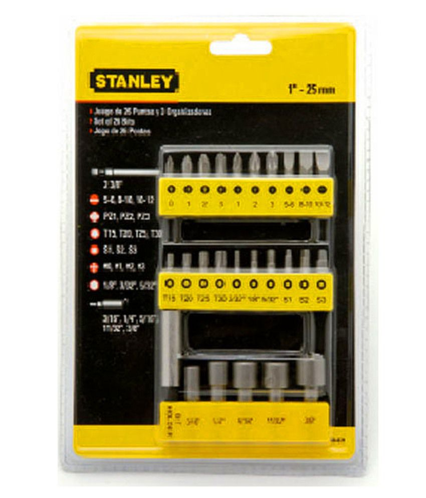 stanley screwdrivers keys 68 071 23 screwdriver insert bit sets buy stanley. Black Bedroom Furniture Sets. Home Design Ideas