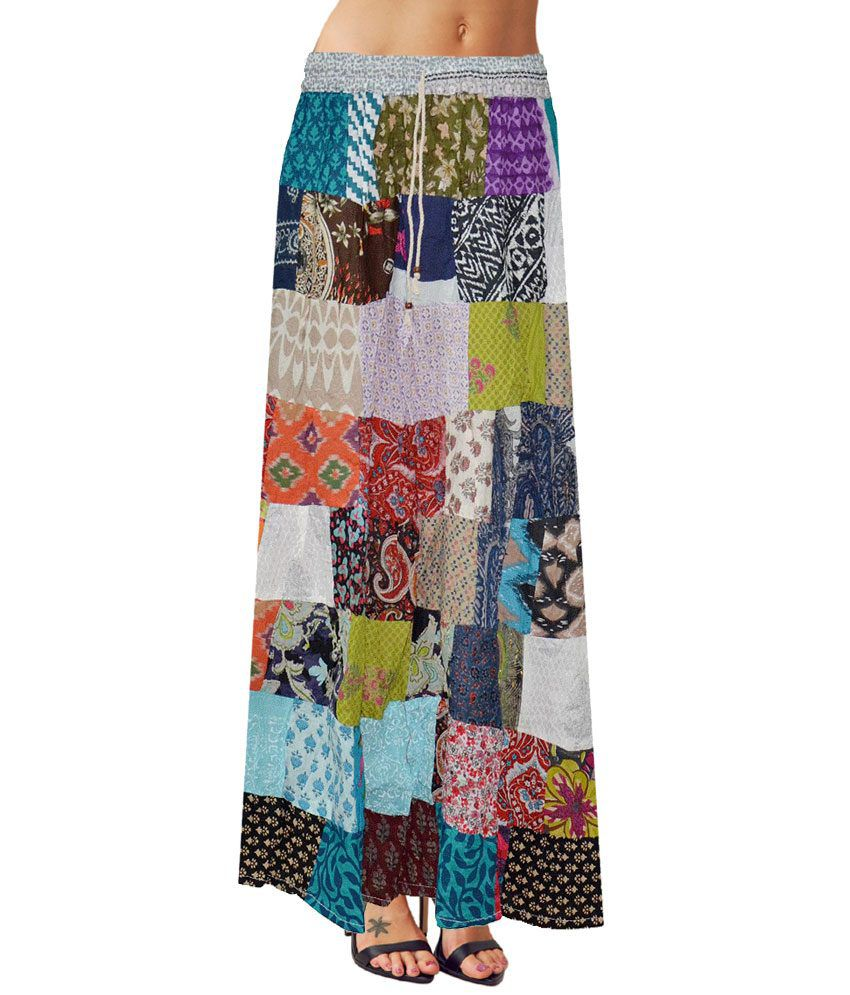 Buy Sttoffa Fashion Design Indian Ethnic Style Women 39 S Wear Cotton Patch Work Long Skirt Online