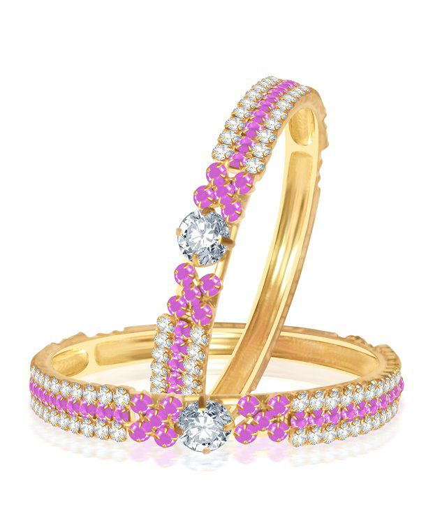 Sukkhi Barbie Pink Colour Stone Studded Bangles