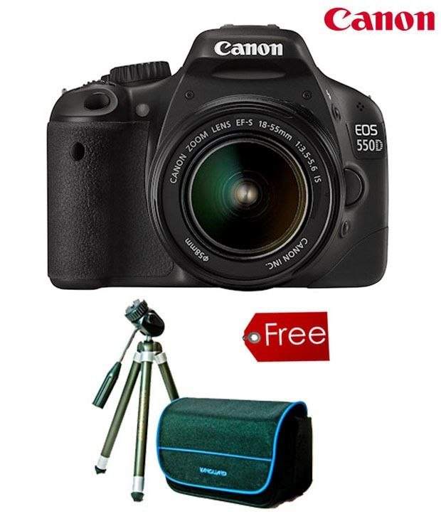 Canon EOS 550D SLR 18-55IS(with 4GB CARD, 2 year Canon India Warranty, 1 CARRY CASE + (Vanguard Tripod + 1 Vanguard Bag worth Rs.1499))