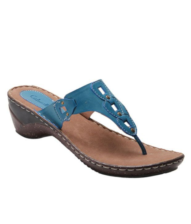 Catwalk Attractive Teal Blue Sandals