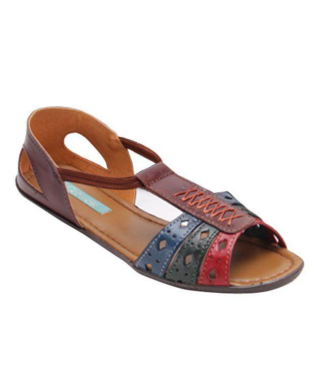 Catwalk Brown Peekaboo Belly Shoes