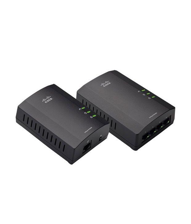 Cisco Linksys Powerline 4-port Kit (1-port Fast Ethernet + 4-port Fast Ethernet)
