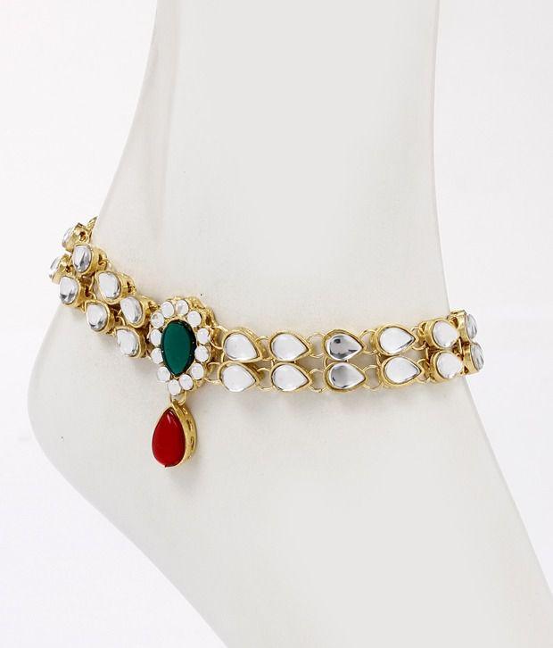 Ethnic Jewels Mughal Inspired Payal