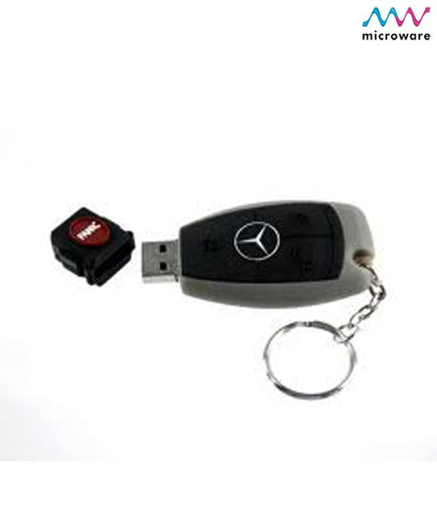 Microware 16gb mercedes benz key shape designer pen drive for Key for mercedes benz cost