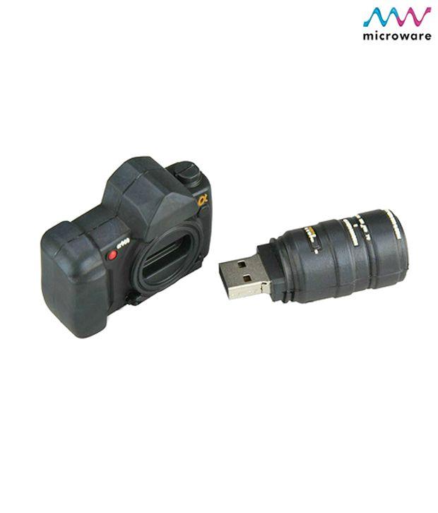 Microware Camera Shape Designer Pen Drive 4 GB (Black)