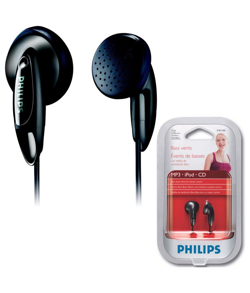 132a531c01c7dd Philips SHE1360/97 Earphones without Mic (Black) - Buy Philips ...