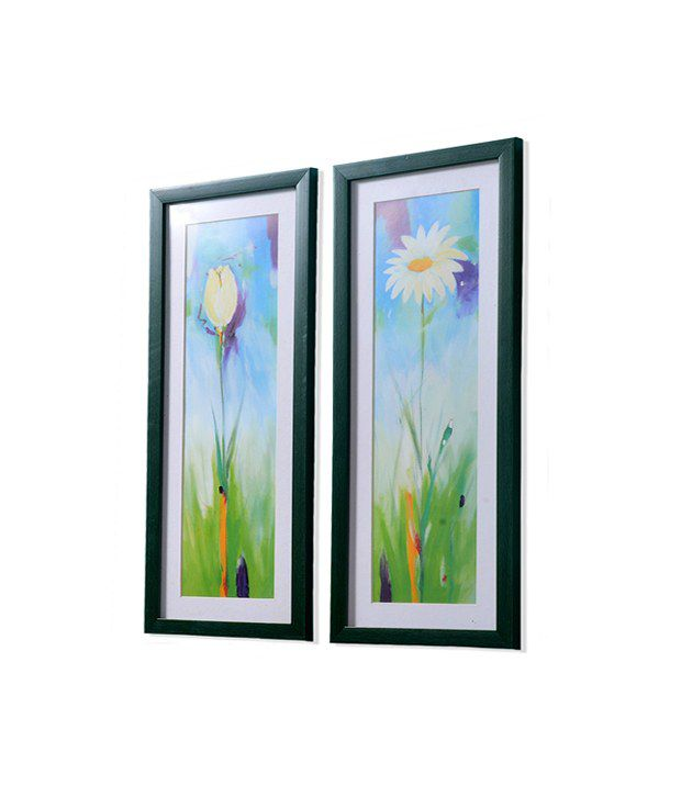 @home Floral Painting - Set of 2