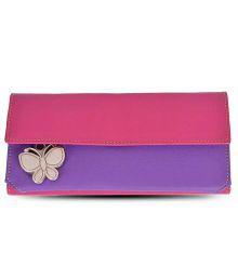 Butterflies Suave Pink & Purple Wallet