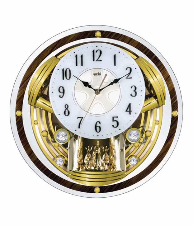 Ajanta Swinging Musical Pendulum Wall Clock Buy Ajanta