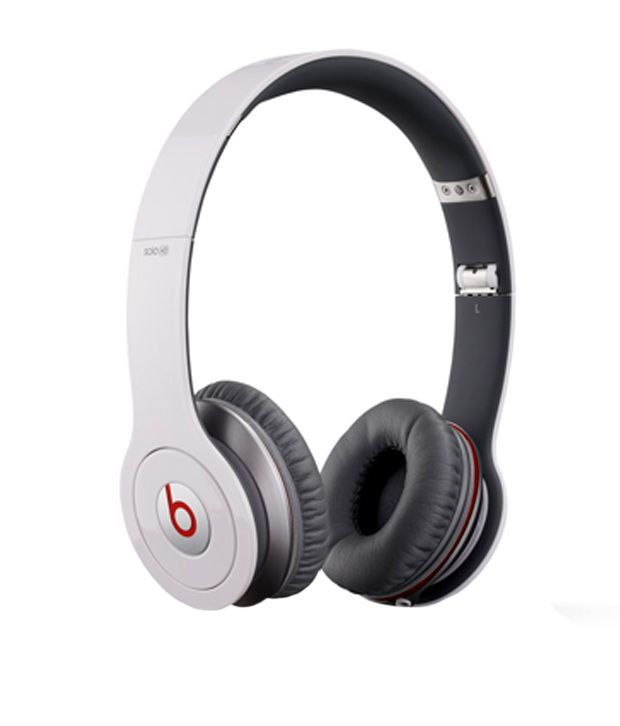 9611333cbf7 Buy Beats Solo HD Over Ear Headphones with Mic (White) Online at Best Price  in India - Snapdeal