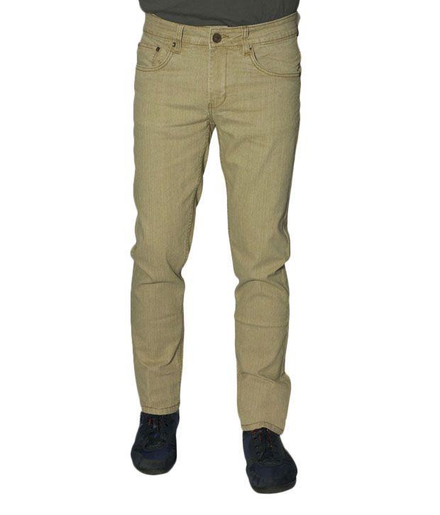 CMYK Beige Slim Fit Jeans