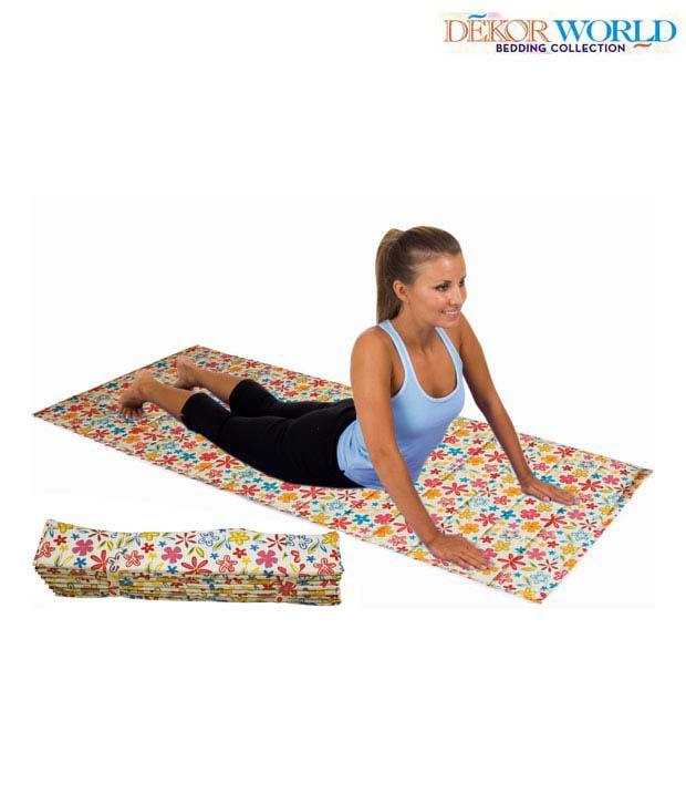 Dekor World Floral Yoga Mat