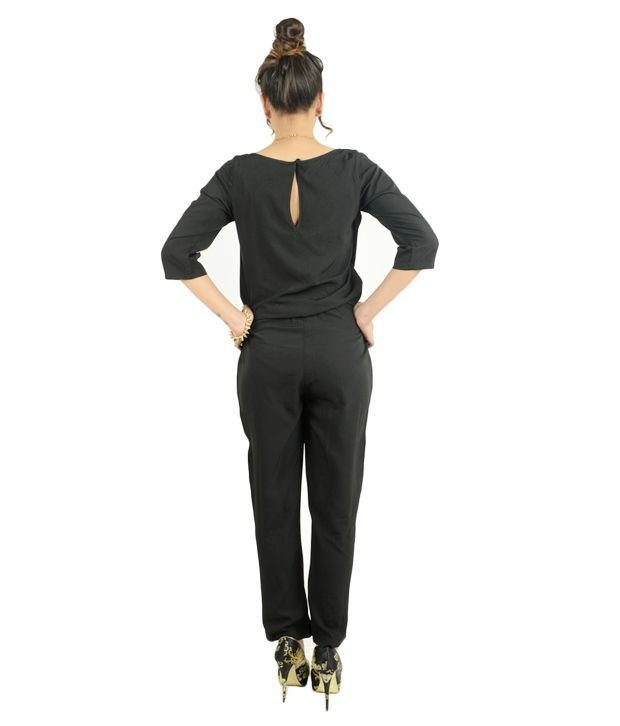 63c3689cde3 Magnetic Designs Black Poly Crepe Jumpsuits Magnetic Designs Black Poly  Crepe Jumpsuits ...
