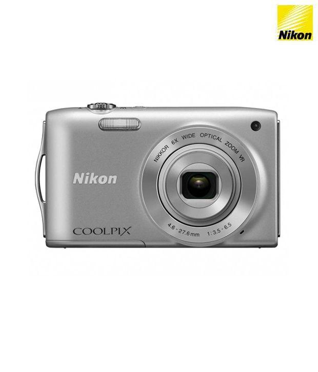 Nikon Coolpix S2600 14MP Digital Camera (Silver) Price in India- Buy ...