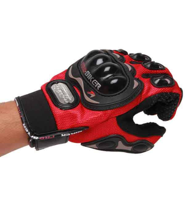 Pro Biker -  Gloves Full - Red - Size (XL)
