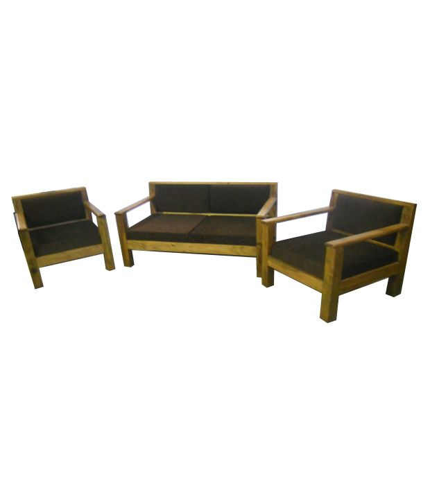 Sheesham Wood Simple Sofa Set 2 1 1 Buy Sheesham Wood