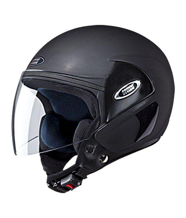 Studds Open Face Helmet Cub Matte Black Large 58