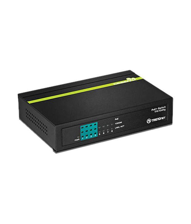 TrendNET 8Port Gigabit GREENnet PoE+ Switch-TPE-TG44g