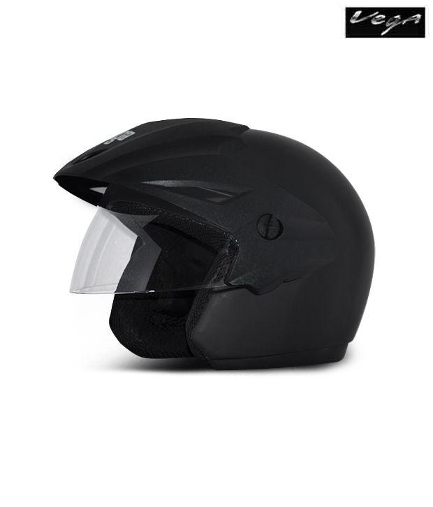 Vega Helmet - Cruiser With Peak (Dull Black)